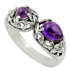 2.44cts natural purple amethyst 925 sterling silver ring jewelry size 8 r40882