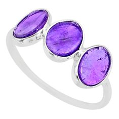 5.67cts natural purple amethyst 925 sterling silver ring jewelry size 8 r87975