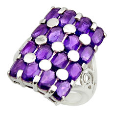 12.60cts natural purple amethyst 925 sterling silver ring jewelry size 9 r25727