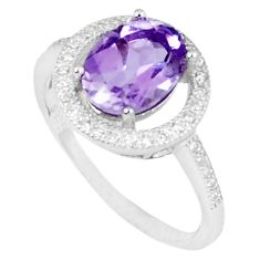 3.62cts natural purple amethyst topaz 925 sterling silver ring size 7 c17934