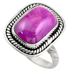 6.79cts natural purple phosphosiderite 925 silver solitaire ring size 8.5 d46360