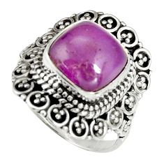 5.51cts natural purple phosphosiderite 925 silver solitaire ring size 7 r19482