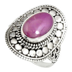 4.21cts natural purple phosphosiderite 925 silver solitaire ring size 8 r19486