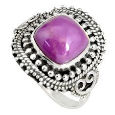 5.79cts natural purple phosphosiderite 925 silver solitaire ring size 9 r19488