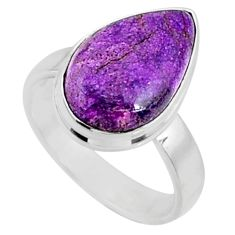 6.45cts natural purple stichtite 925 silver solitaire ring jewelry size 7 r66120