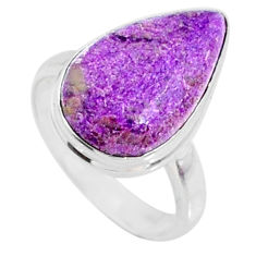 8.73cts natural purple stichtite 925 silver solitaire ring jewelry size 7 r66329