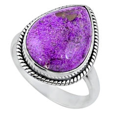12.18cts natural purple stichtite 925 silver solitaire ring size 8.5 r63559