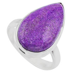 12.58cts natural purple stichtite 925 silver solitaire ring size 8.5 r66152