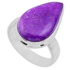 10.65cts natural purple stichtite 925 silver solitaire ring size 6 r66146