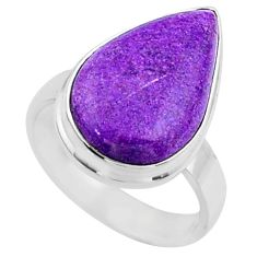 12.18cts natural purple stichtite 925 silver solitaire ring size 7 r66155