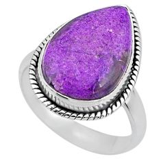 10.76cts natural purple stichtite 925 silver solitaire ring size 8 r63551