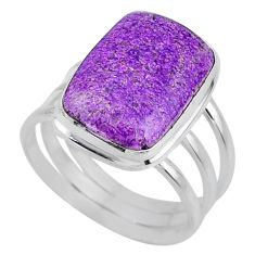 10.21cts natural purple stichtite 925 silver solitaire ring size 9 r63578