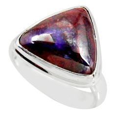 7.12cts natural purple sugilite 925 silver solitaire ring jewelry size 7 r34398