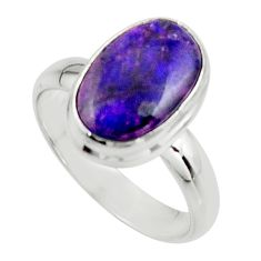 4.86cts natural purple sugilite 925 sterling silver ring jewelry size 8 r45013