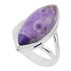 8.78cts natural purple tiffany stone 925 silver solitaire ring size 7 r95795