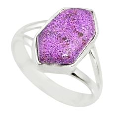5.18cts natural purpurite stichtite 925 silver solitaire ring size 6.5 r80163