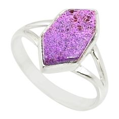 5.57cts natural purpurite stichtite 925 silver solitaire ring size 9.5 r80175