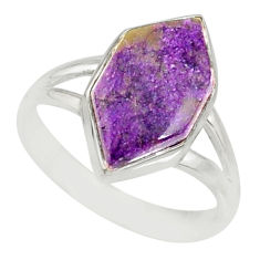 4.85cts natural purpurite stichtite 925 silver solitaire ring size 6 r80189