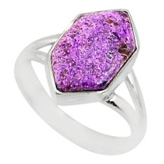 4.83cts natural purpurite stichtite 925 silver solitaire ring size 6 r80231