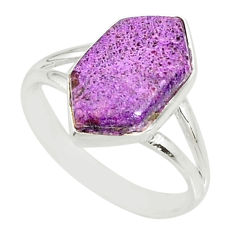 4.90cts natural purpurite stichtite 925 silver solitaire ring size 7 r80168