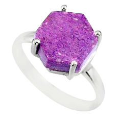 4.47cts natural purpurite stichtite 925 silver solitaire ring size 7 r81926