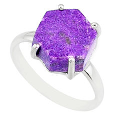 4.22cts natural purpurite stichtite 925 silver solitaire ring size 7 r81929