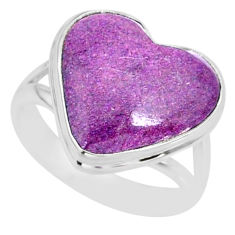 8.80cts natural purpurite stichtite 925 silver solitaire ring size 8 r84693