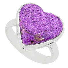 8.80cts natural purpurite stichtite 925 silver solitaire ring size 8 r84715
