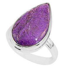 11.65cts natural purpurite stichtite 925 silver solitaire ring size 8 r95599