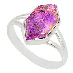 5.22cts natural purpurite stichtite 925 silver solitaire ring size 9 r80174