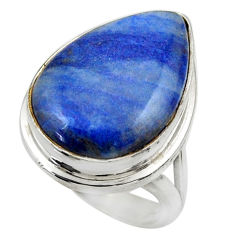 15.86cts natural quartz palm stone 925 silver solitaire ring size 6.5 r28615