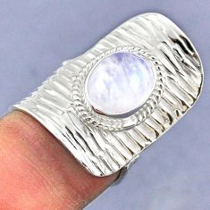 4.06cts natural rainbow moonstone 925 silver adjustable ring size 6 r63280