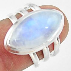 8.71cts natural rainbow moonstone 925 silver solitaire ring size 6 r47411