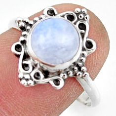 2.97cts natural rainbow moonstone 925 silver solitaire ring size 9 r41499