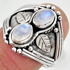 2.16cts natural rainbow moonstone 925 sterling silver ring jewelry size 7 r26838