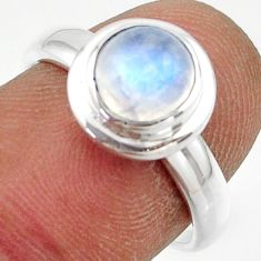 2.36cts natural rainbow moonstone 925 sterling silver ring jewelry size 7 r42780