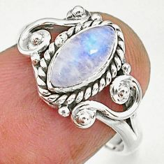 2.30cts natural rainbow moonstone 925 sterling silver ring jewelry size 7 r90056