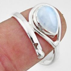 2.64cts natural rainbow moonstone 925 sterling silver ring jewelry size 8 r44878