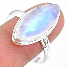 13.27cts natural rainbow moonstone 925 sterling silver ring size 11 t18124