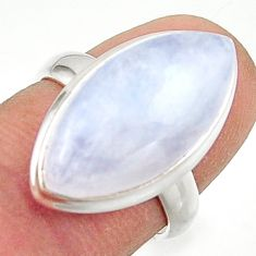 13.48cts natural rainbow moonstone 925 sterling silver ring size 6 r42707