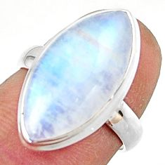 12.64cts natural rainbow moonstone 925 sterling silver ring size 6 r42718