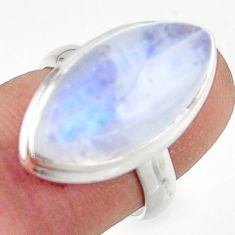 13.73cts natural rainbow moonstone 925 sterling silver ring size 6 r42730