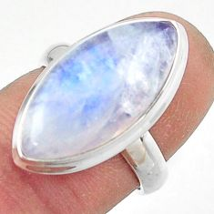 13.51cts natural rainbow moonstone 925 sterling silver ring size 6 r42737