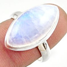 13.48cts natural rainbow moonstone 925 sterling silver ring size 7 r42709