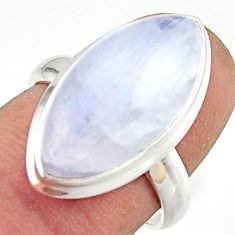 13.27cts natural rainbow moonstone 925 sterling silver ring size 7 r42710