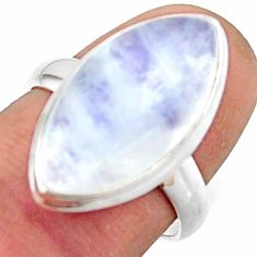 13.73cts natural rainbow moonstone 925 sterling silver ring size 7 r42719
