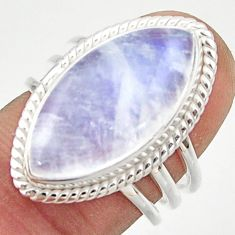 13.31cts natural rainbow moonstone 925 sterling silver ring size 7 r42725