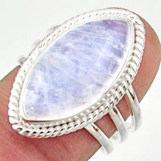 13.38cts natural rainbow moonstone 925 sterling silver ring size 7 r42729