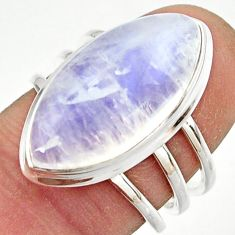 13.20cts natural rainbow moonstone 925 sterling silver ring size 7 r42735