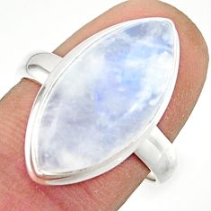 13.51cts natural rainbow moonstone 925 sterling silver ring size 8 r42705